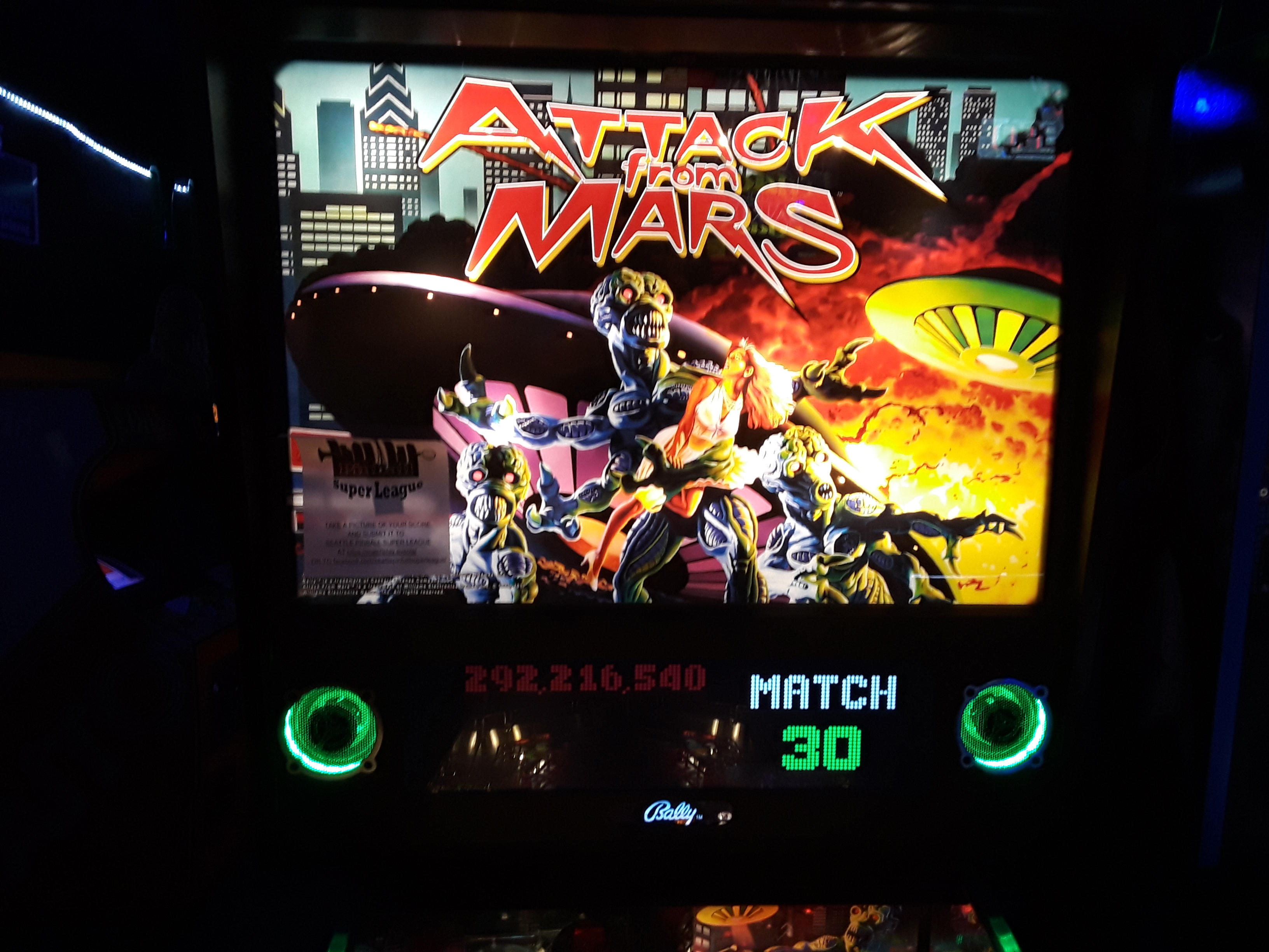 Attack From Mars 292,216,540 points