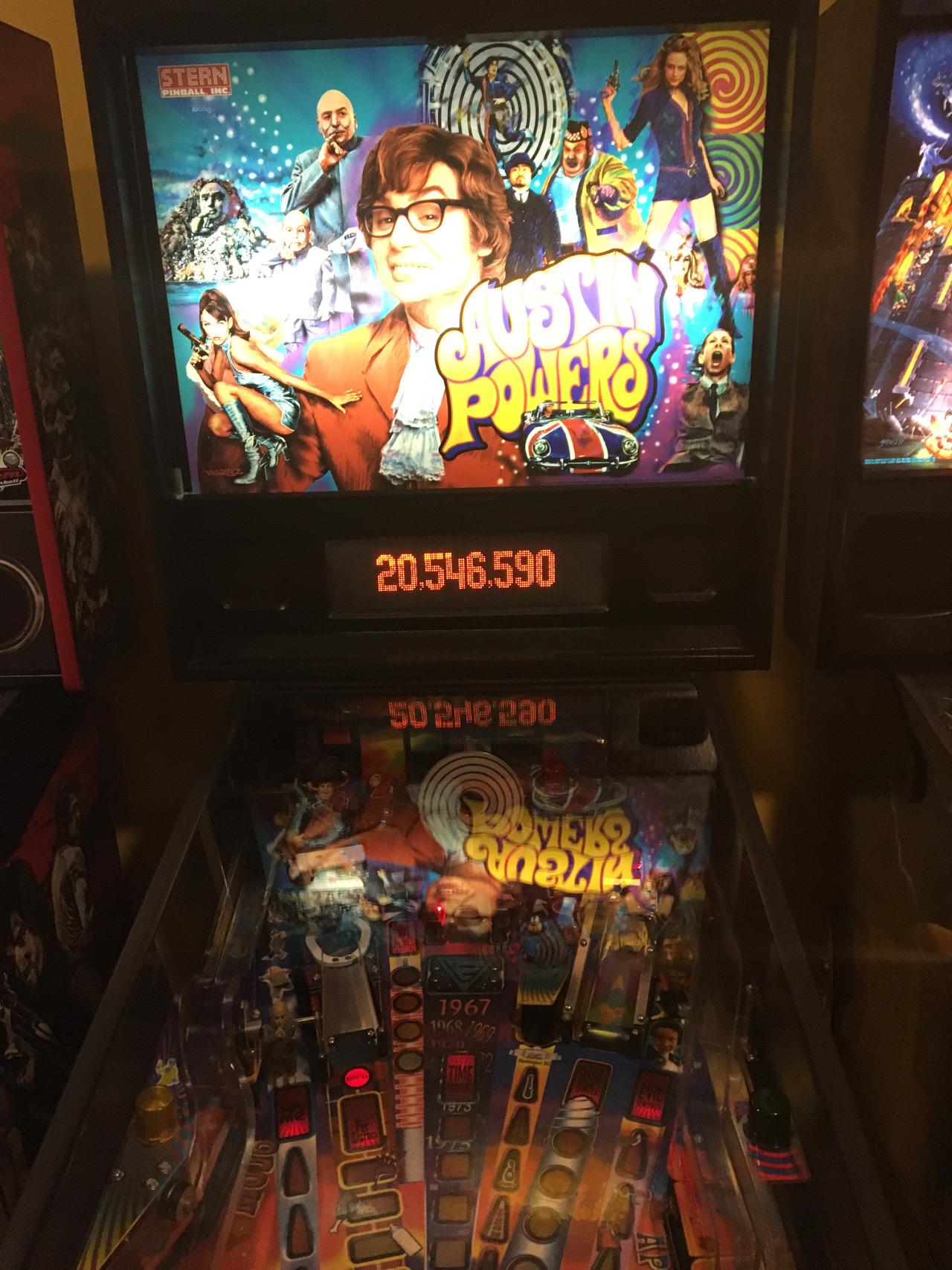 ILLSeaBass: Austin Powers (Pinball: 3 Balls) 20,546,590 points on 2016-11-23 00:58:31