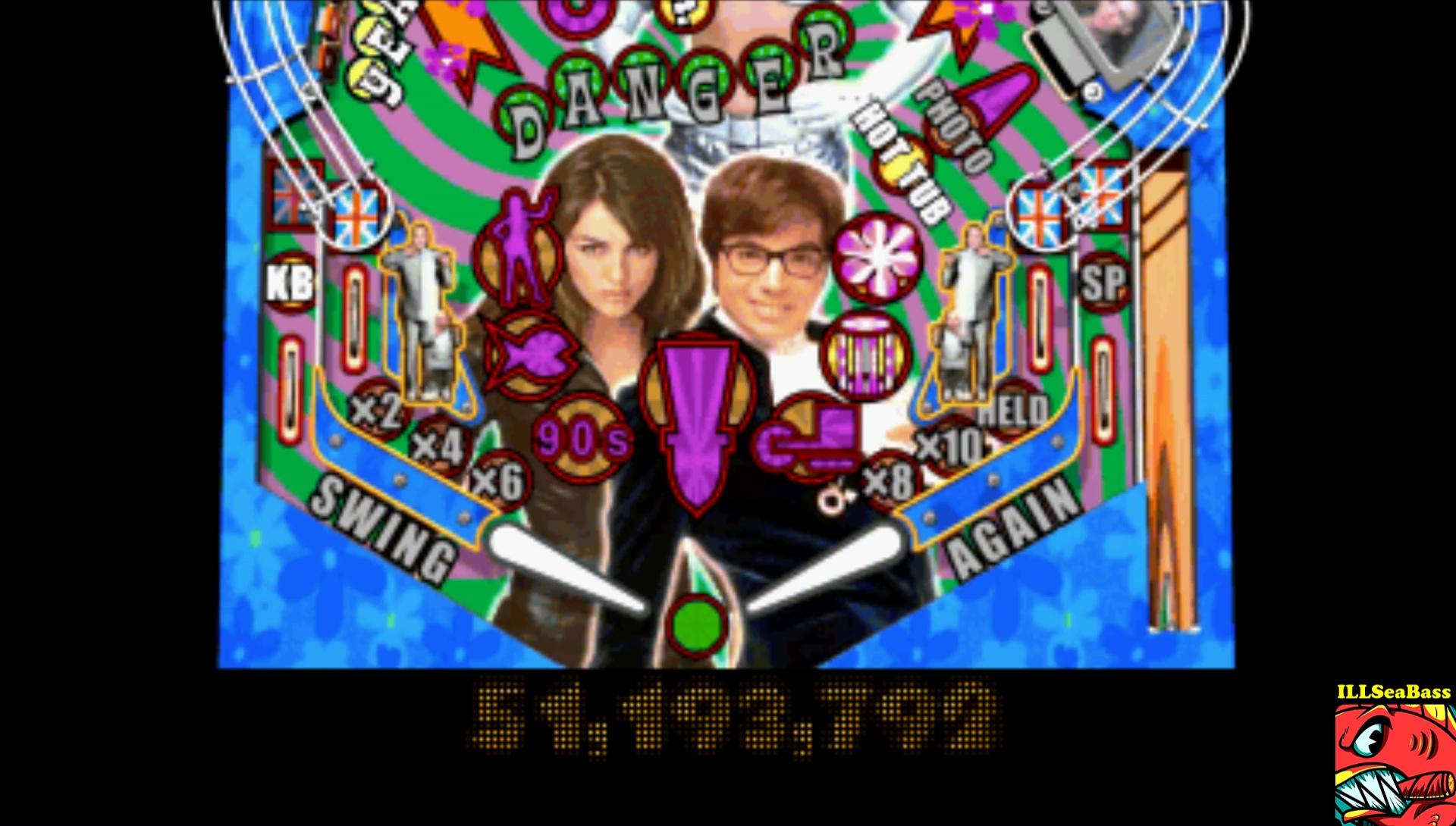 ILLSeaBass: Austin Powers Pinball: International Man Of Mystery [Novice] (Playstation 1 Emulated) 51,193,792 points on 2017-02-18 15:14:39