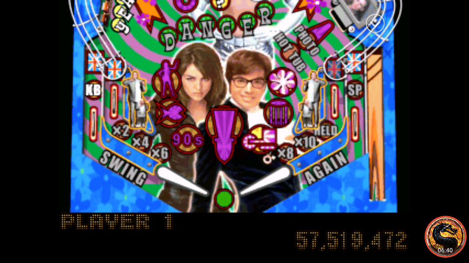 omargeddon: Austin Powers Pinball: International Man Of Mystery [Novice] (Playstation 1 Emulated) 57,519,472 points on 2018-11-23 09:57:06