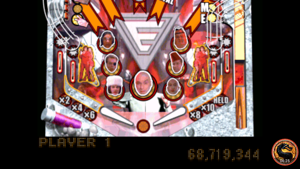 omargeddon: Austin Powers Pinball: The Spy Who Shagged Me [Novice] (Playstation 1 Emulated) 68,719,344 points on 2018-11-23 09:58:22
