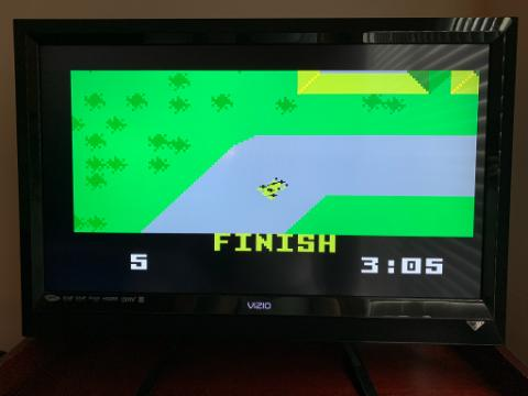 Rickster8: Auto Racing [Revised]: Course 1 (Intellivision Emulated) 0:03:05 points on 2020-09-11 11:52:54