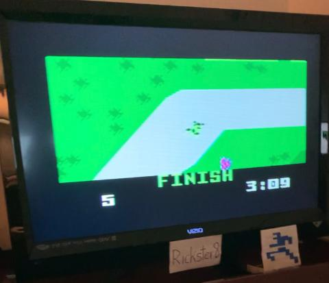 Rickster8: Auto Racing [Revised]: Course 1 (Intellivision) 0:03:09 points on 2021-02-15 20:30:10
