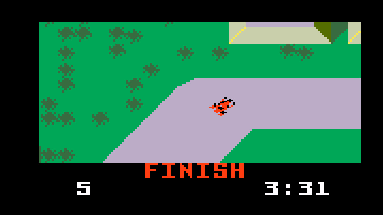 TheTrickster: Auto Racing [Revised]: Course 1 (Intellivision Emulated) 0:03:31 points on 2016-06-04 20:10:19