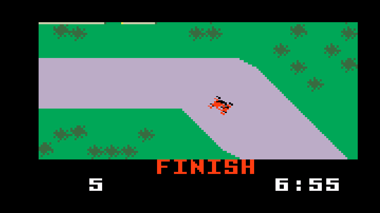 TheTrickster: Auto Racing [Revised]: Course 2 (Intellivision Emulated) 0:06:55 points on 2016-06-04 20:13:08