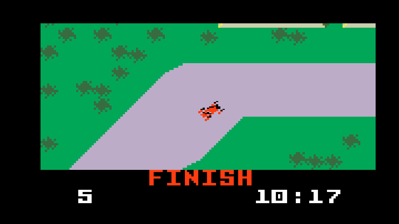 TheTrickster: Auto Racing [Revised]: Course 4 (Intellivision Emulated) 0:10:17 points on 2016-06-04 20:16:59