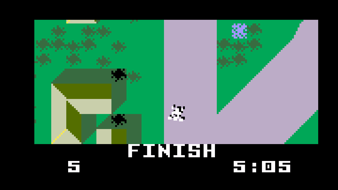 TheTrickster: Auto Racing [Revised]: Course 5 (Intellivision Emulated) 0:05:05 points on 2016-06-04 20:19:05