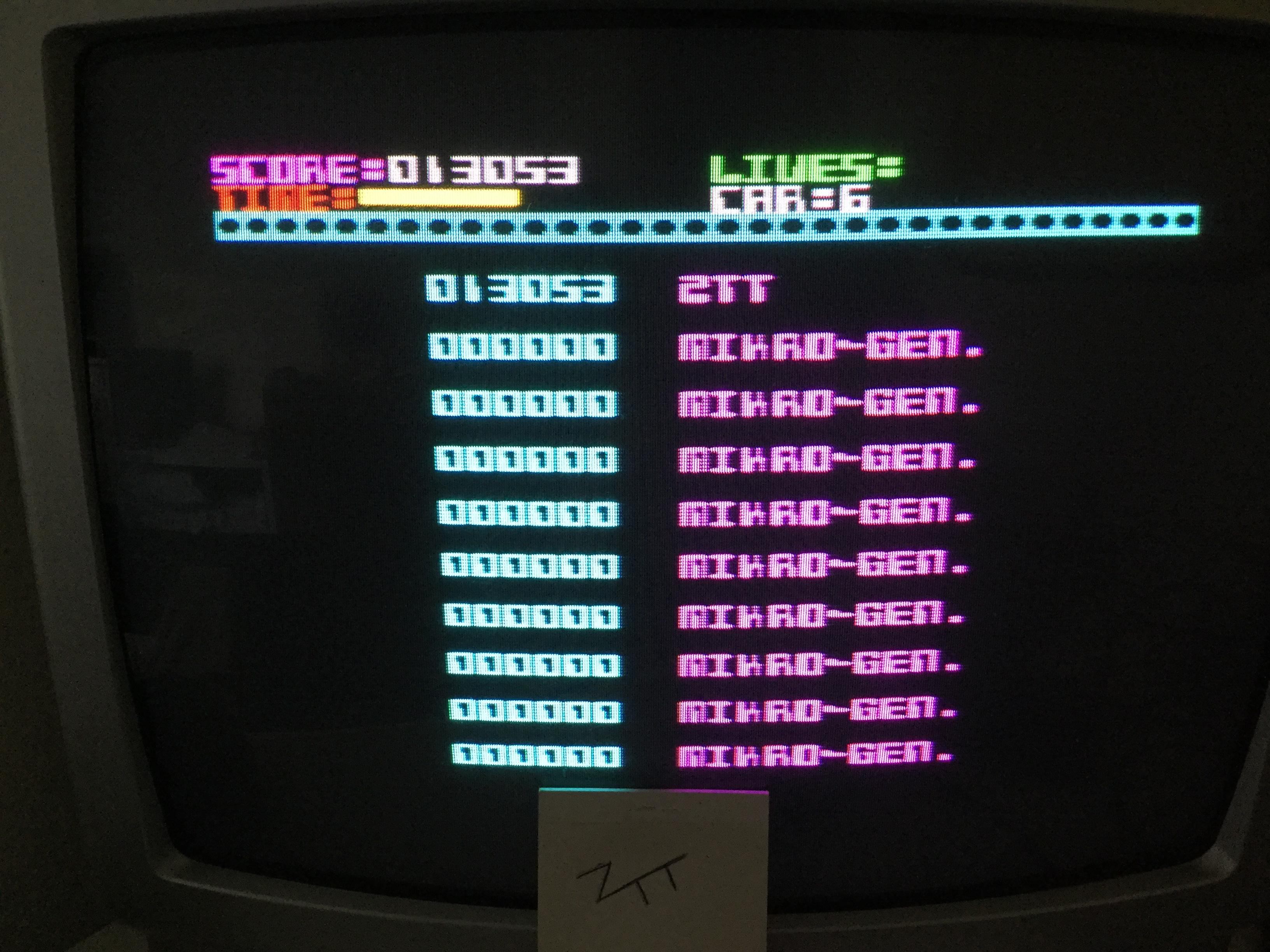 Frankie: Automania (ZX Spectrum) 13,053 points on 2017-09-09 03:03:06