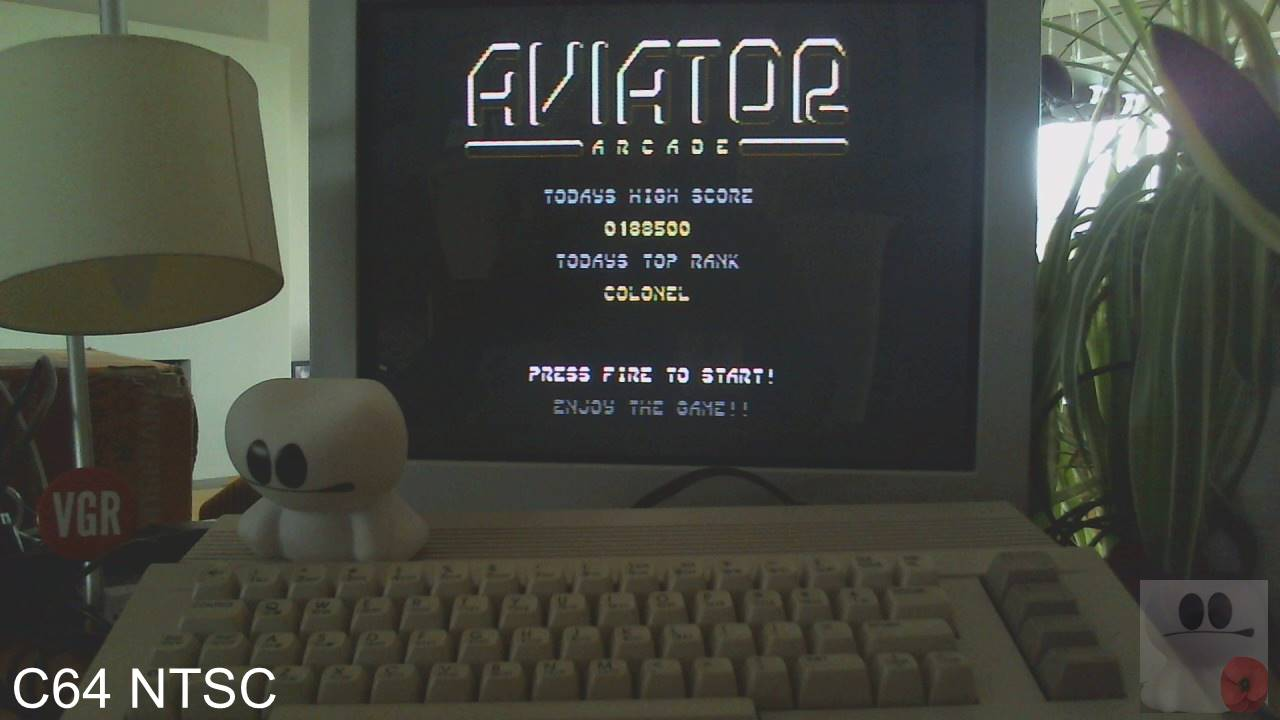 GTibel: Aviator Arcade (Commodore 64) 188,500 points on 2020-03-13 08:57:42