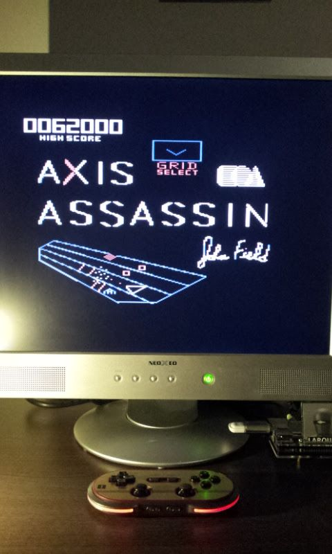 Larquey: Axis Assassin (Commodore 64 Emulated) 62,000 points on 2017-03-12 14:58:51