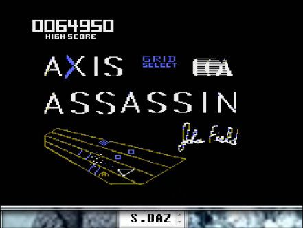S.BAZ: Axis Assassin: Medium Spider (Atari 400/800/XL/XE Emulated) 64,950 points on 2016-04-23 15:11:06