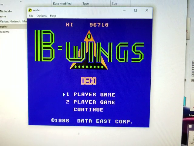 JES: B-Wings (NES/Famicom Emulated) 96,710 points on 2019-01-13 11:58:11