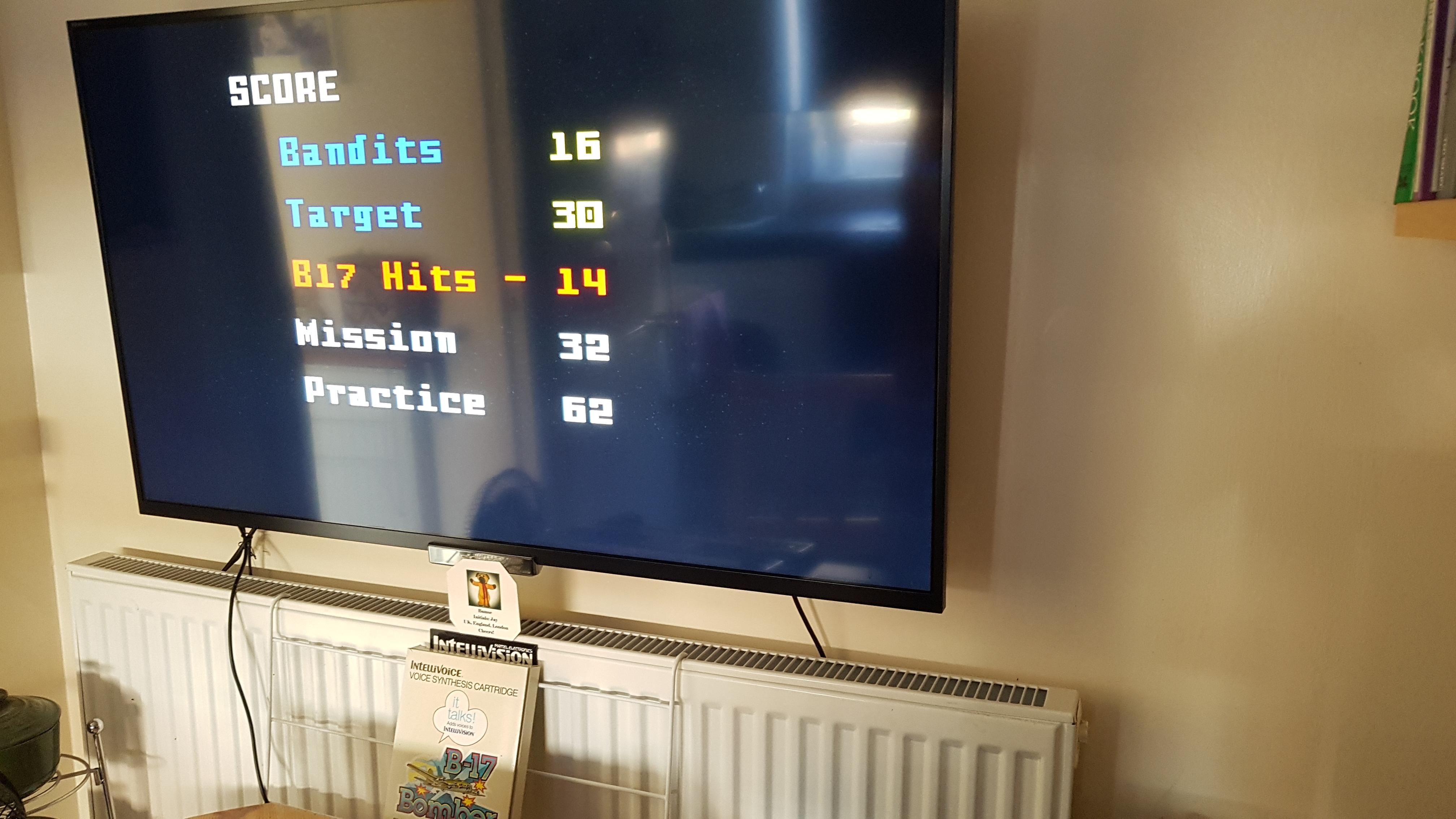 Bamse: B17 Bomber [Level 1] (Intellivision) 62 points on 2019-02-24 08:07:33