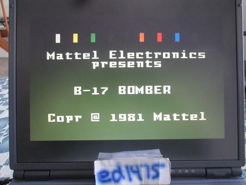 ed1475: B17 Bomber [Level 1] (Intellivision Emulated) 956 points on 2019-03-10 16:24:35