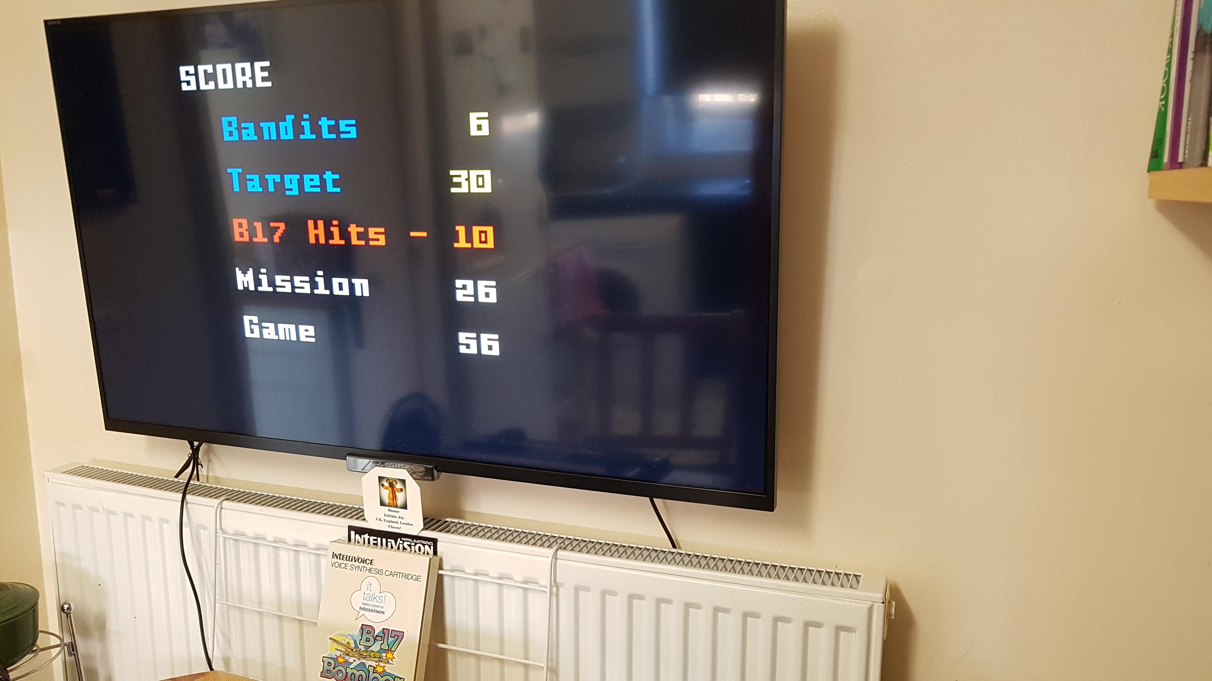 Bamse: B17 Bomber [Level 2] (Intellivision) 56 points on 2019-02-24 08:11:26