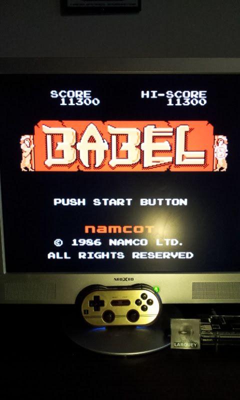 Larquey: Babel (NES/Famicom Emulated) 11,300 points on 2017-01-16 12:28:06