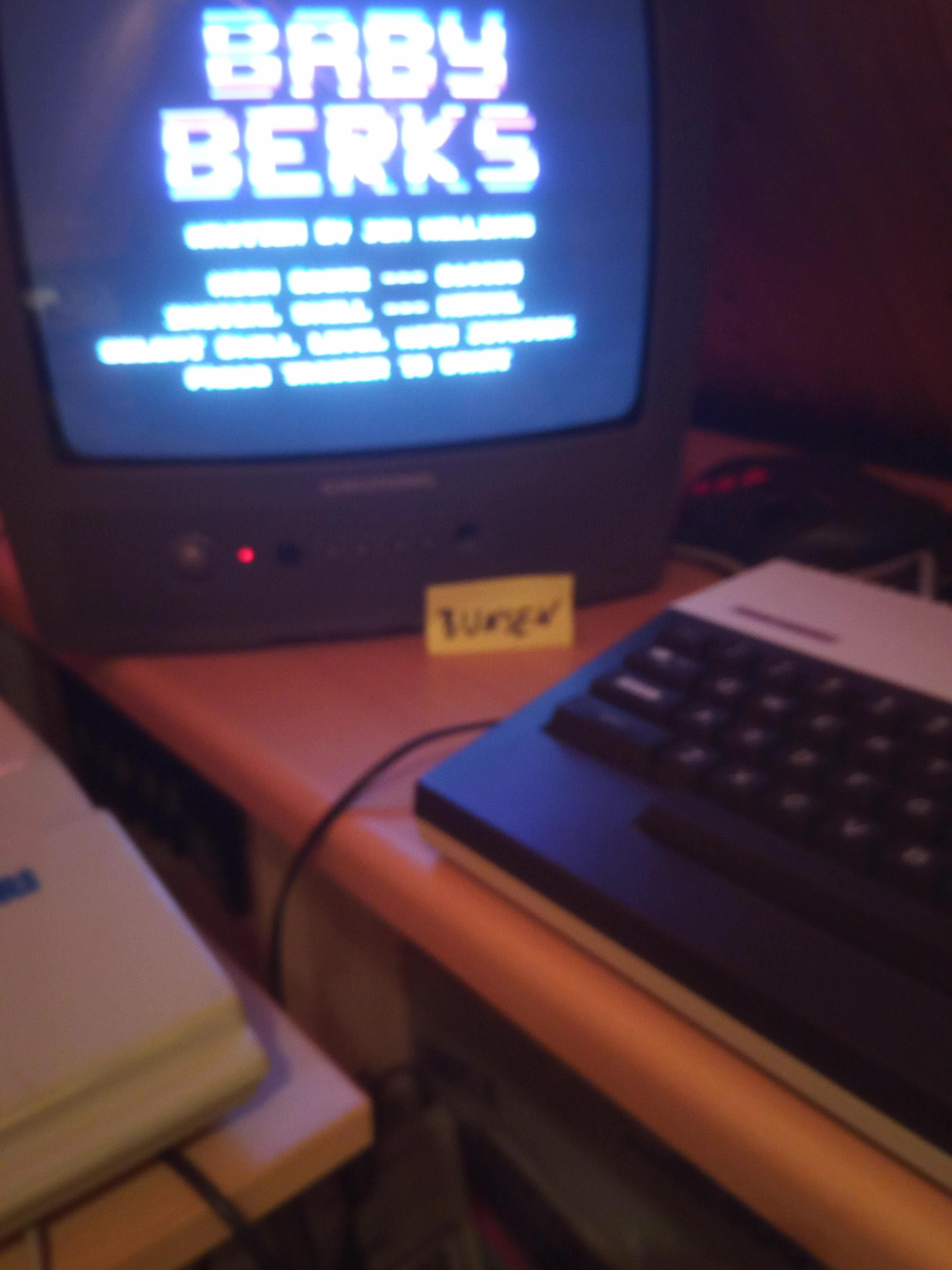 Bunsen: Baby Berks [Skill: Normal] (Atari 400/800/XL/XE) 18,300 points on 2020-07-09 15:33:25