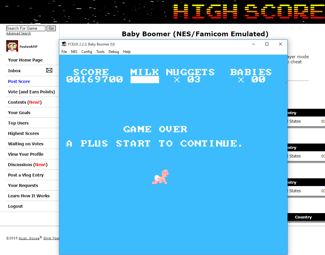 FosterAMF: Baby Boomer (NES/Famicom Emulated) 169,700 points on 2015-09-06 03:28:38