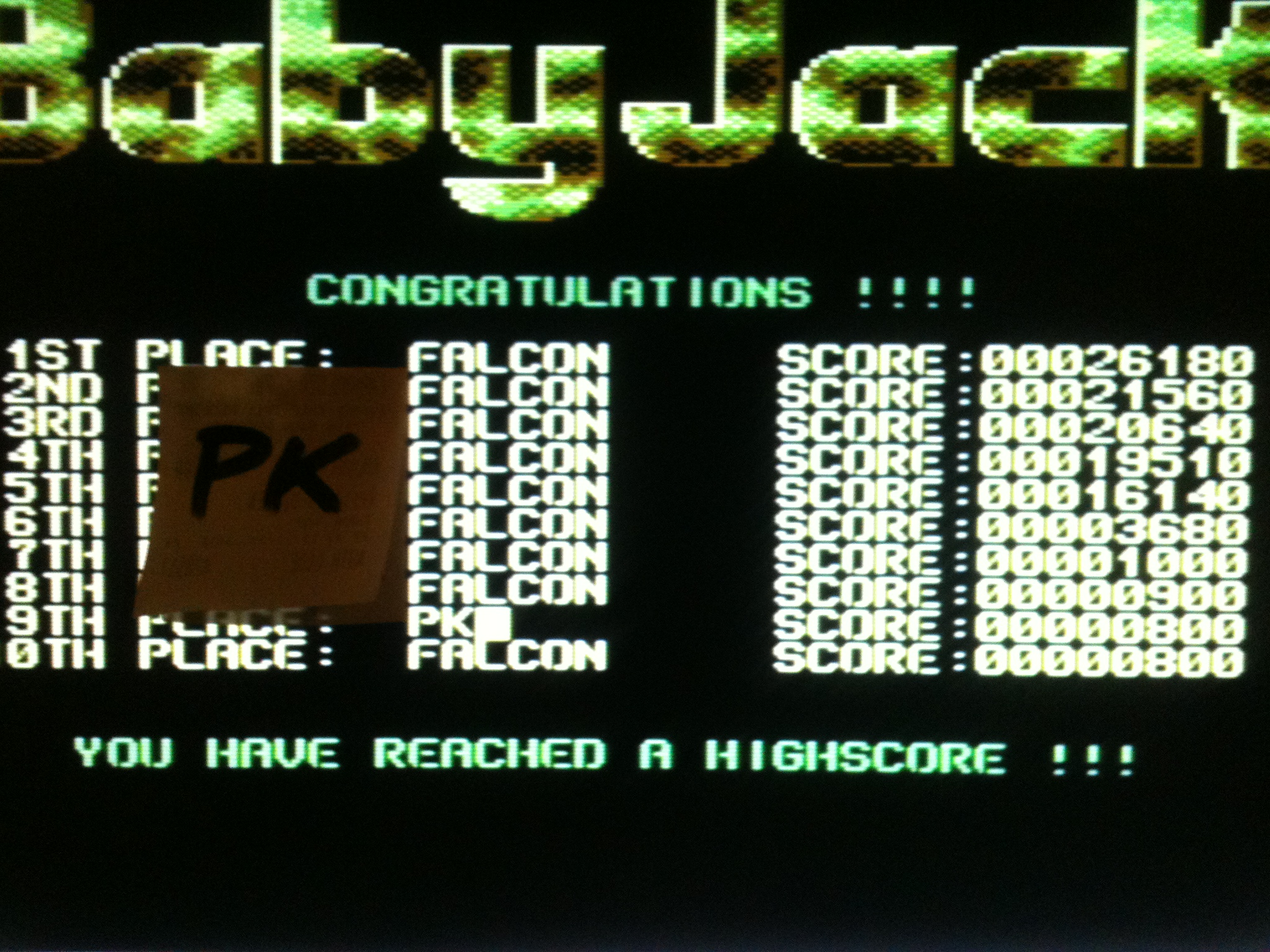 kernzy: Baby Jack (Commodore 64) 800 points on 2015-11-29 17:19:50