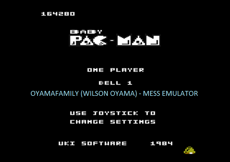 oyamafamily: Baby Pac-Man: Bell 1 (Atari 7800 Emulated) 164,280 points on 2016-04-30 20:13:13