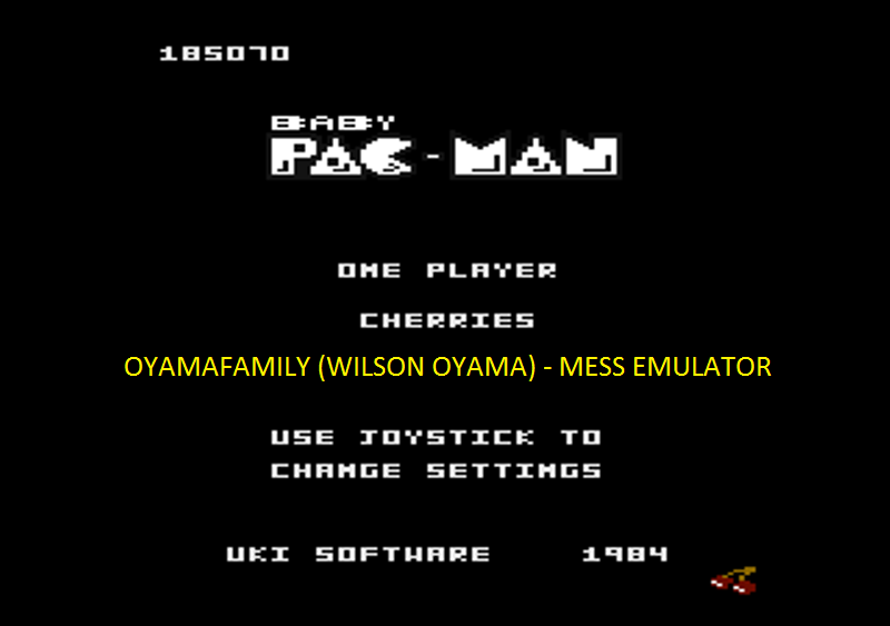 oyamafamily: Baby Pac-Man: Cherries (Atari 7800 Emulated) 185,070 points on 2016-05-06 20:30:21
