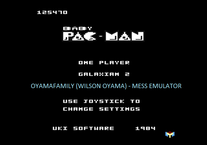 oyamafamily: Baby Pac-Man: Galaxian 2 (Atari 7800 Emulated) 125,470 points on 2016-04-30 20:13:56
