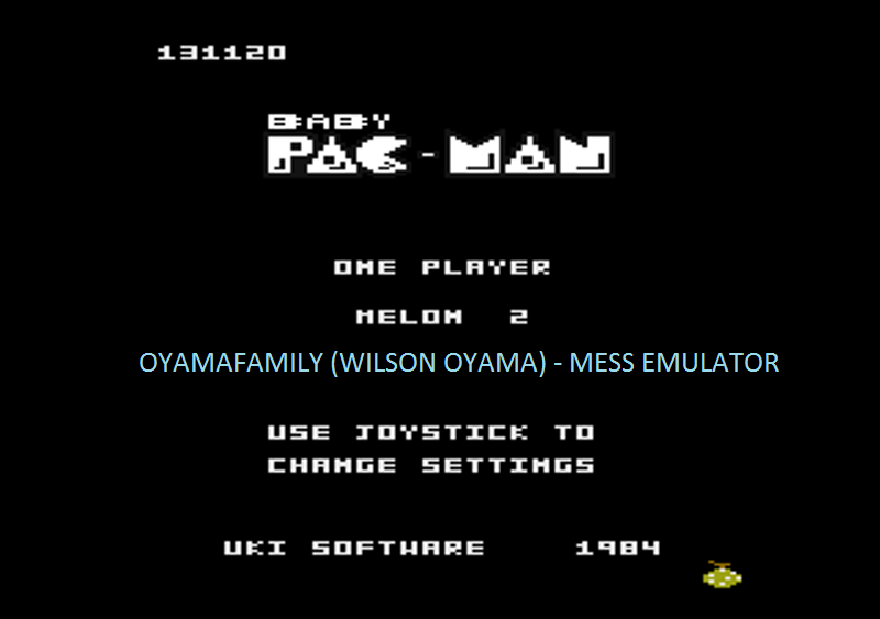 oyamafamily: Baby Pac-Man: Melon 2 (Atari 7800 Emulated) 131,120 points on 2016-05-03 19:49:18