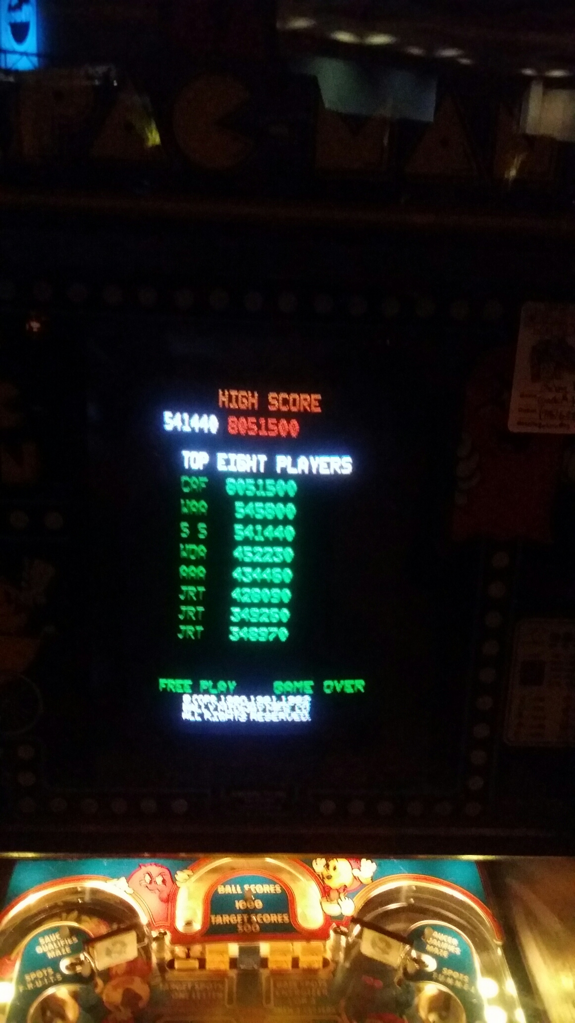 Baby Pac-Man 541,440 points