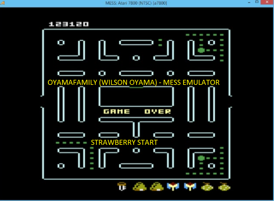 oyamafamily: Baby Pac-Man: Strawberry (Atari 7800 Emulated) 123,120 points on 2016-05-06 20:30:46