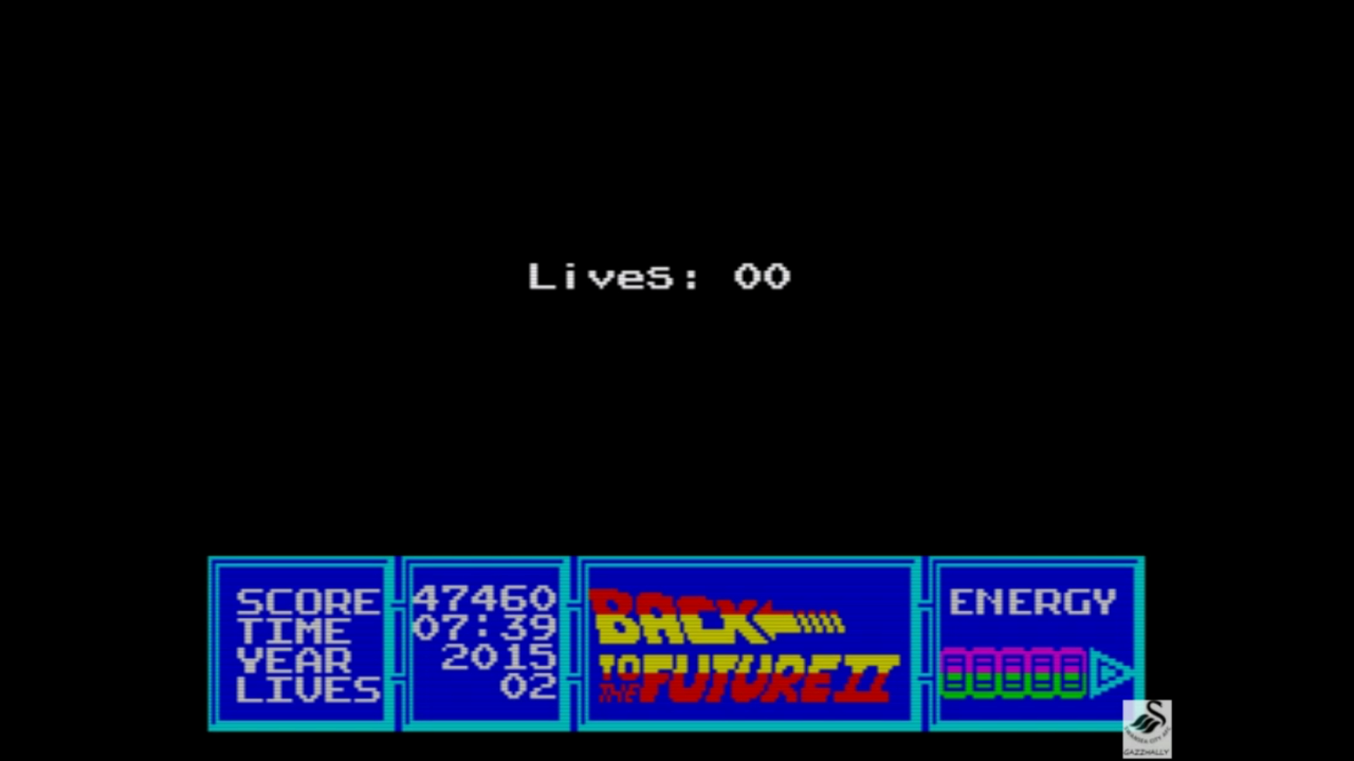gazzhally: Back To The Future 2 (ZX Spectrum Emulated) 47,460 points on 2019-07-19 14:41:03