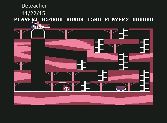 Deteacher: Bagitman (Commodore 64 Emulated) 54,800 points on 2015-11-22 10:19:27