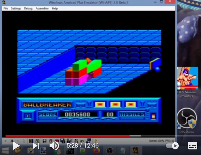 LuigiRuffolo: Ball Breaker (Amstrad CPC Emulated) 35,600 points on 2021-03-06 05:52:35