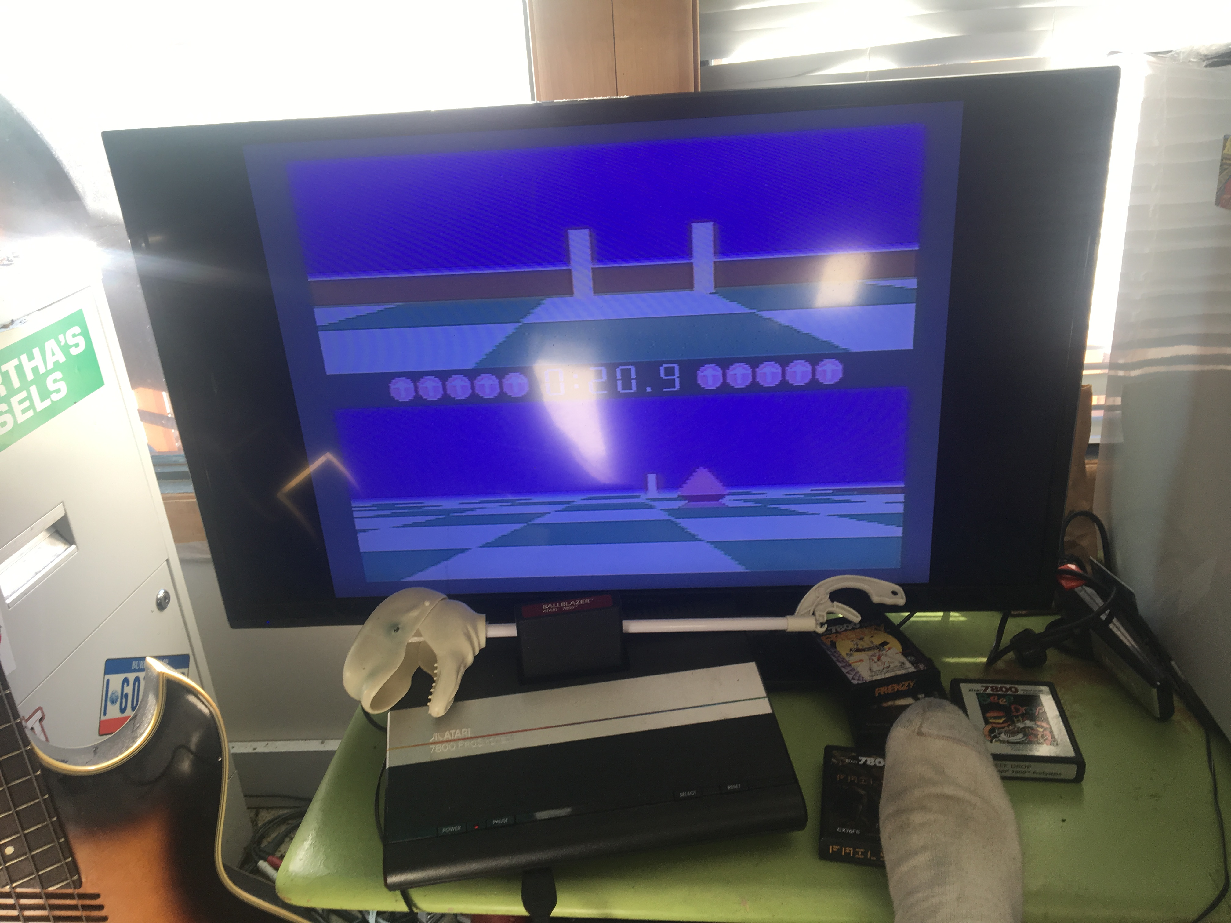 CousinVinnie: Ballblazer: Droid 2 / 1 minute (Atari 7800) 10 points on 2017-11-26 09:27:22