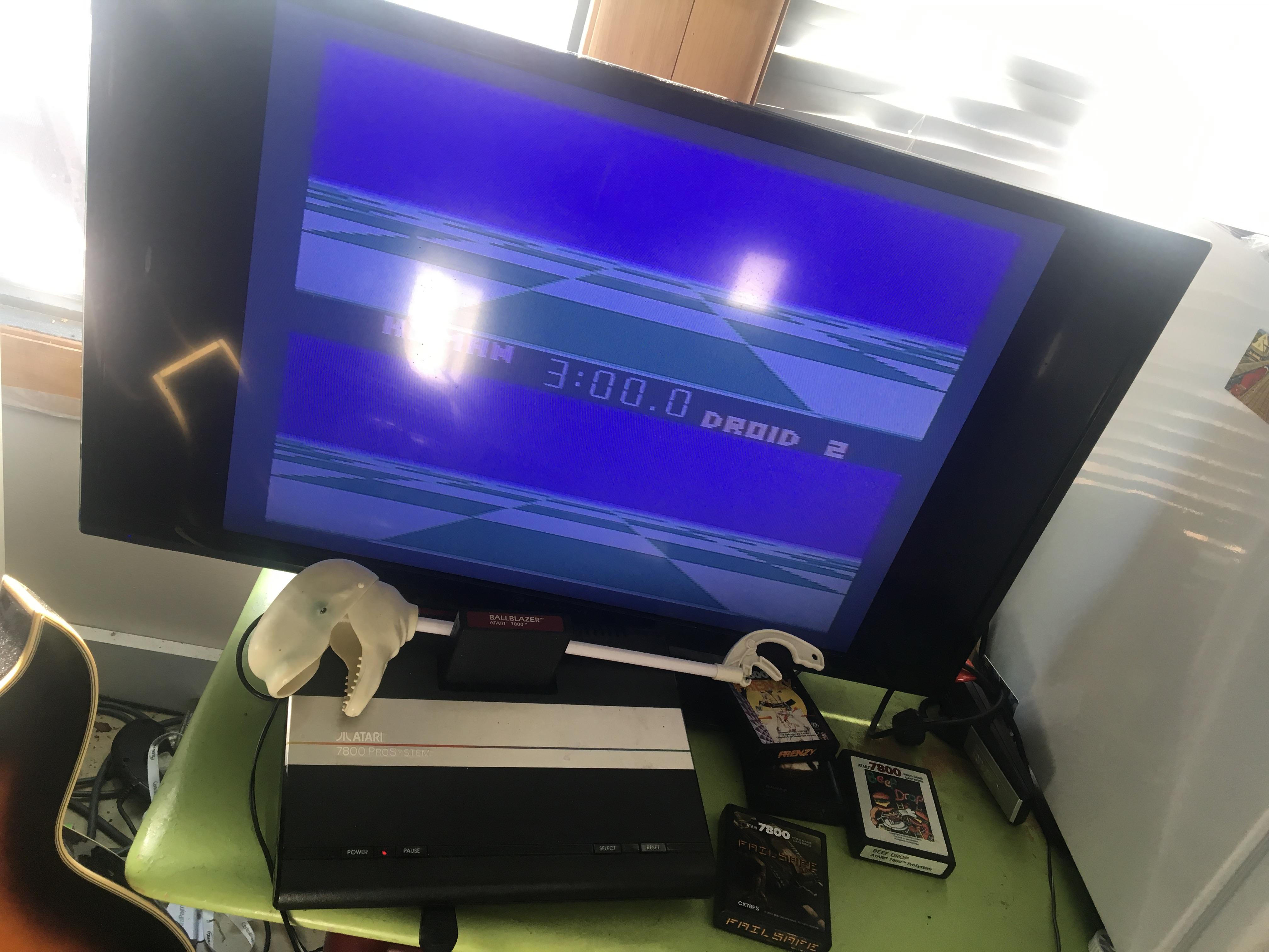 CousinVinnie: Ballblazer: Droid 2 / 3 minutes (Atari 7800) 10 points on 2017-11-26 09:44:53