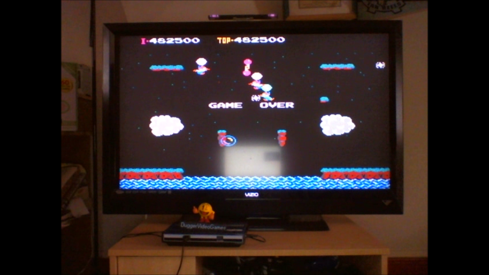 DuggerVideoGames: Balloon Fight (NES/Famicom Emulated) 482,500 points on 2016-07-15 17:07:08