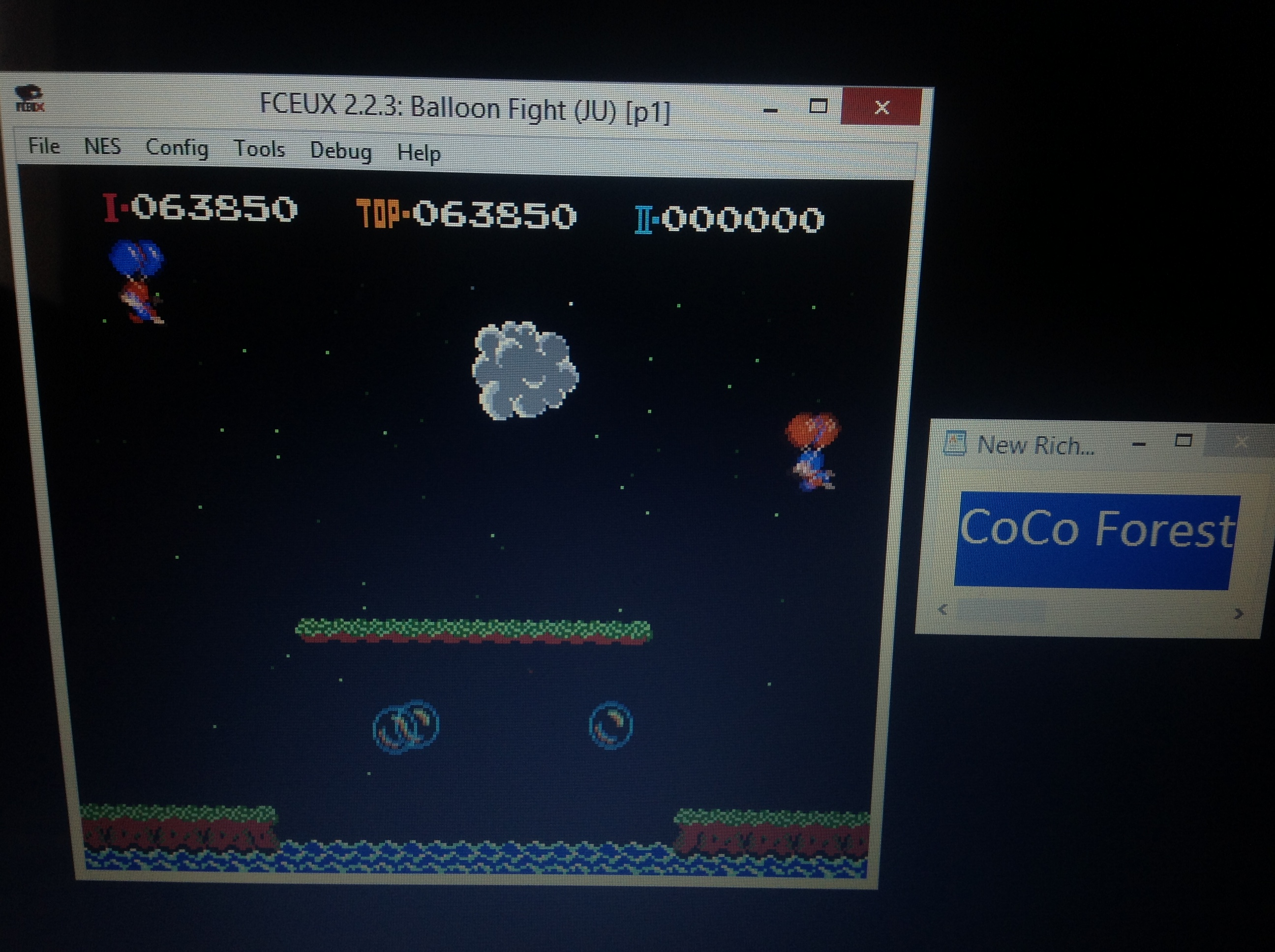 CoCoForest: Balloon Fight (NES/Famicom Emulated) 63,850 points on 2018-10-04 06:42:51