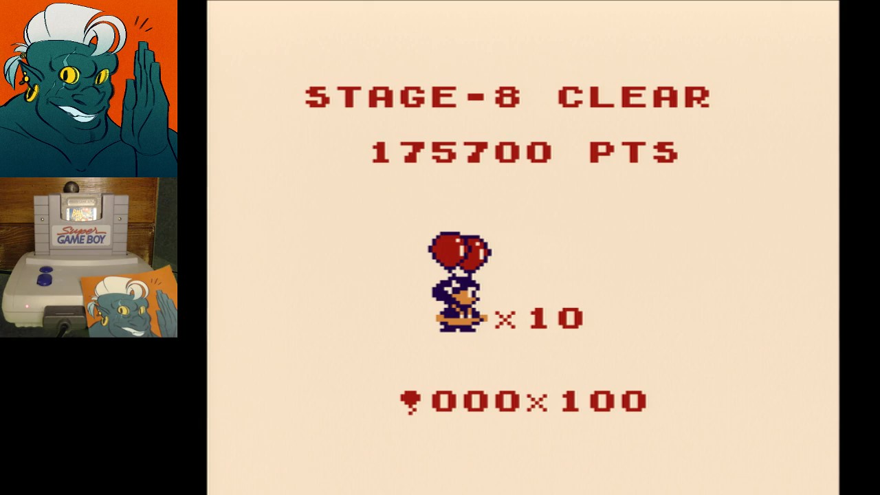 AwesomeOgre: Balloon Kid: Single Play (Game Boy) 175,700 points on 2019-03-27 00:27:10