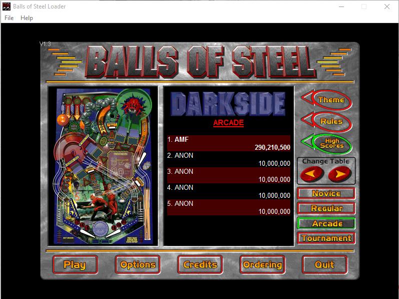 FosterAMF: Balls of Steel: Darkside [Arcade] (PC) 290,210,500 points on 2015-12-23 14:34:31