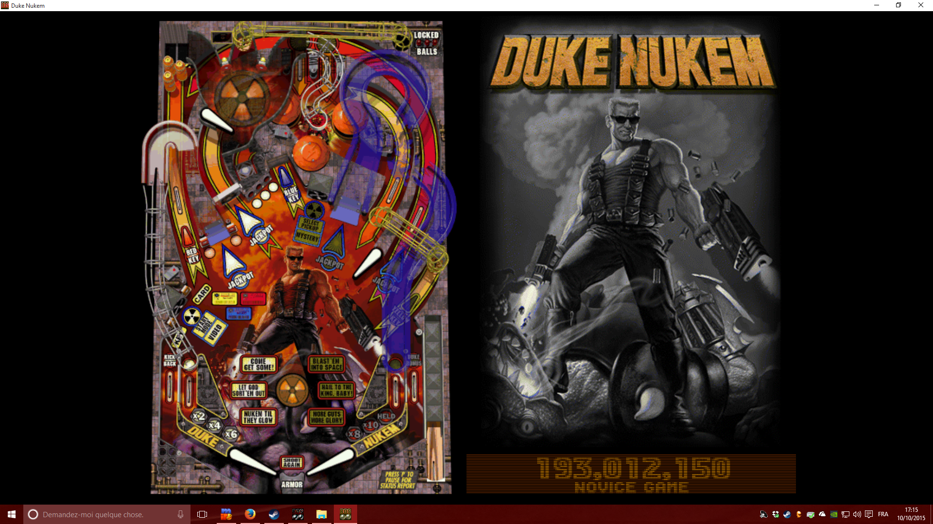 Mantalow: Balls of Steel: Duke Nukem [Novice] (PC) 193,012,150 points on 2015-10-10 11:23:01