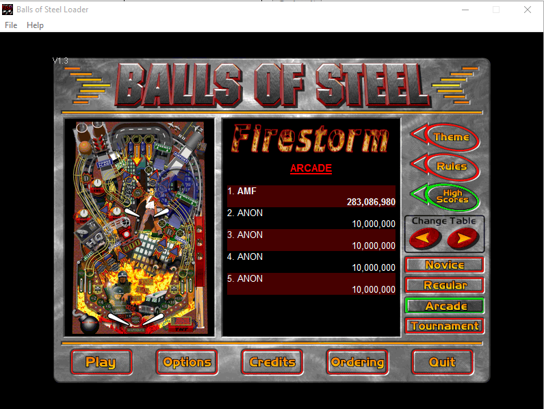 FosterAMF: Balls of Steel: Firestorm [Arcade] (PC) 283,086,980 points on 2015-12-10 03:18:48