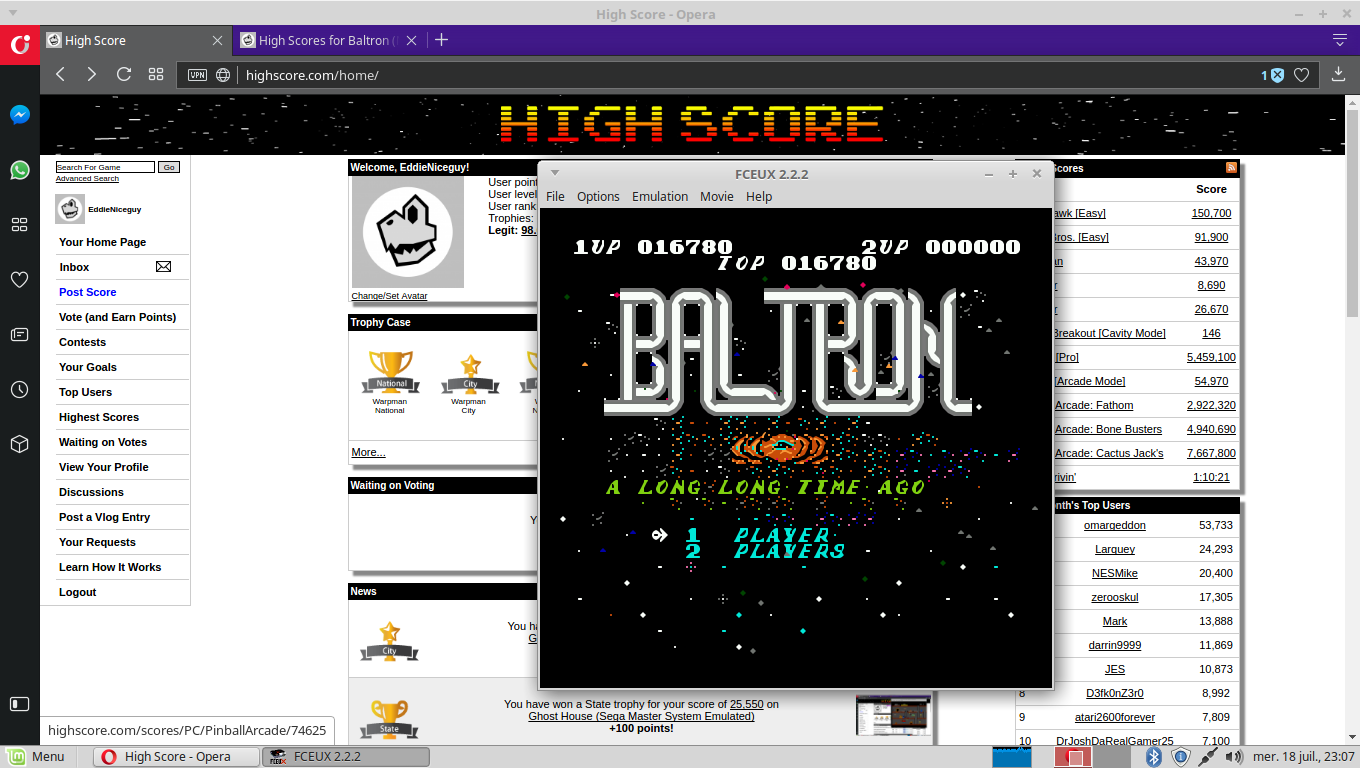 EddieNiceguy: Baltron (NES/Famicom Emulated) 16,760 points on 2018-07-18 16:07:37