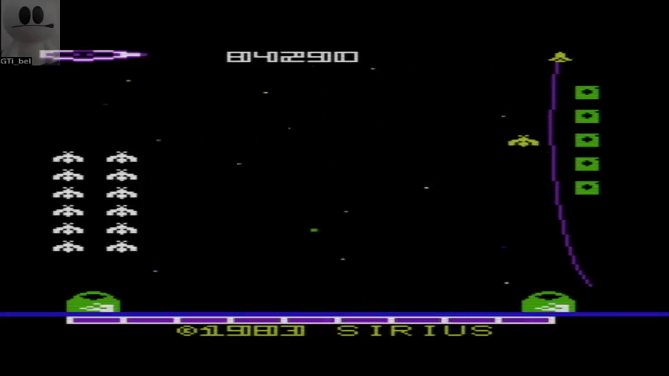 GTibel: Bandits (Commodore VIC-20 Emulated) 84,290 points on 2016-07-10 02:33:32