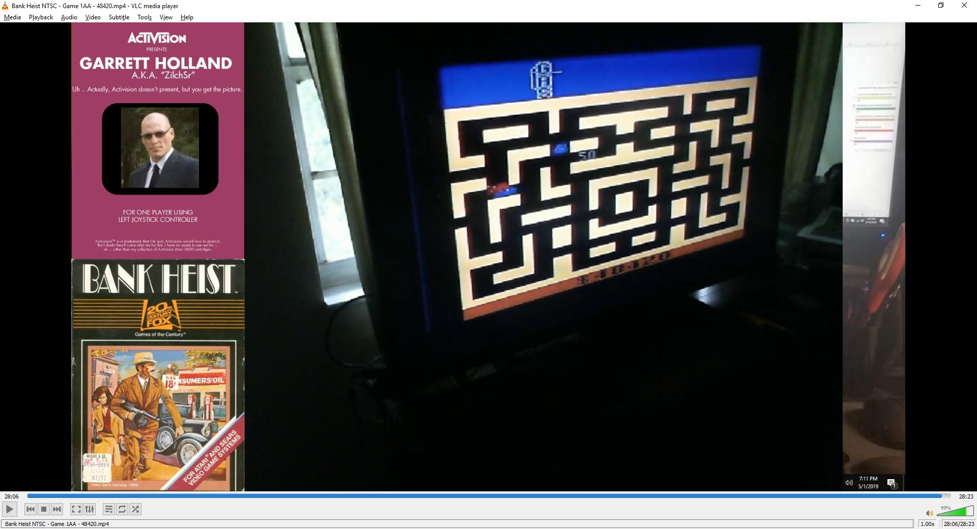 ZilchSr: Bank Heist (Atari 2600 Expert/A) 48,420 points on 2019-05-01 18:16:23