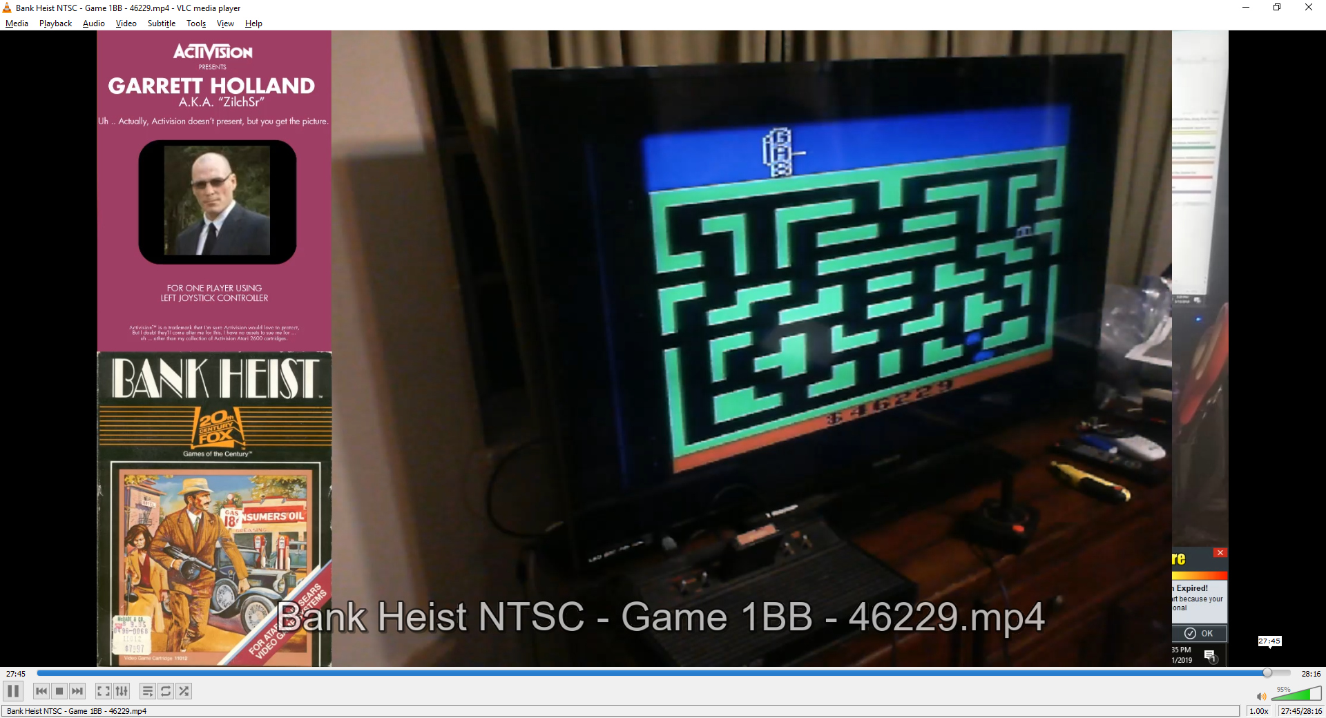 ZilchSr: Bank Heist (Atari 2600 Novice/B) 46,229 points on 2019-05-01 20:09:25