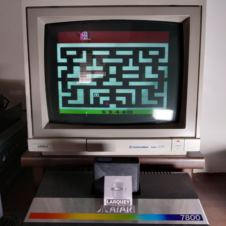 Larquey: Bank Heist (Atari 2600 Novice/B) 1,440 points on 2020-07-18 10:15:41