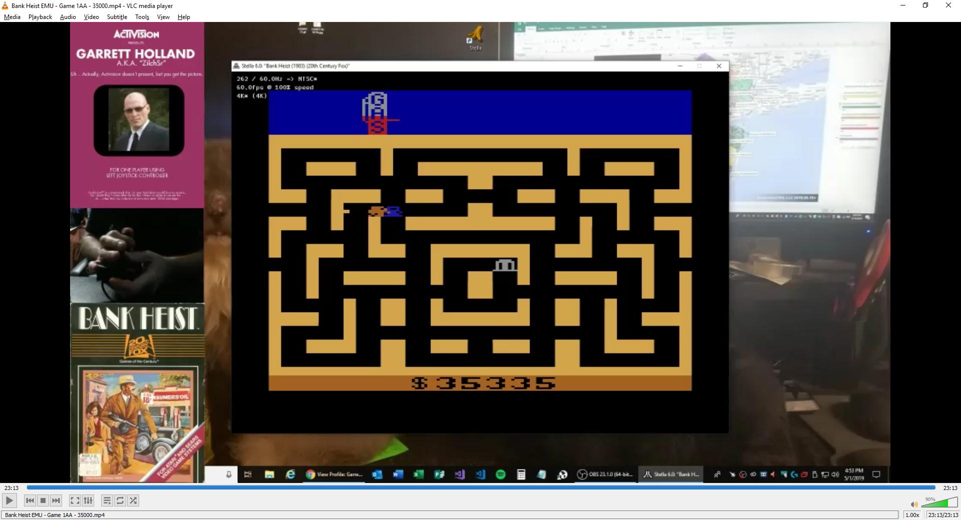 ZilchSr: Bank Heist (Atari 2600 Emulated Expert/A Mode) 35,335 points on 2019-05-01 16:58:05