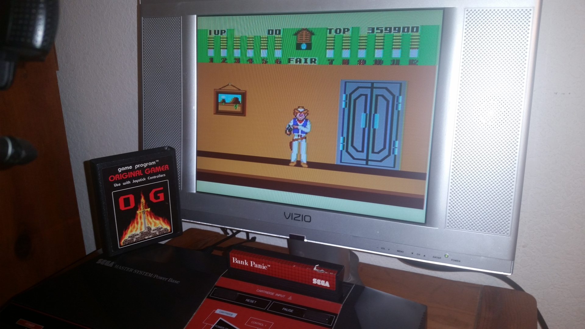 OriginalGamer: Bank Panic (Sega Master System) 359,900 points on 2016-11-17 01:34:14