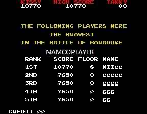NamcoPlayer: Baraduke [baraduke] (Arcade Emulated / M.A.M.E.) 10,770 points on 2020-11-30 20:54:55