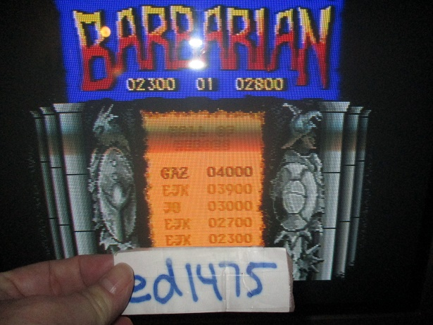 ed1475: Barbarian (Atari ST) 3,900 points on 2017-10-21 21:42:05
