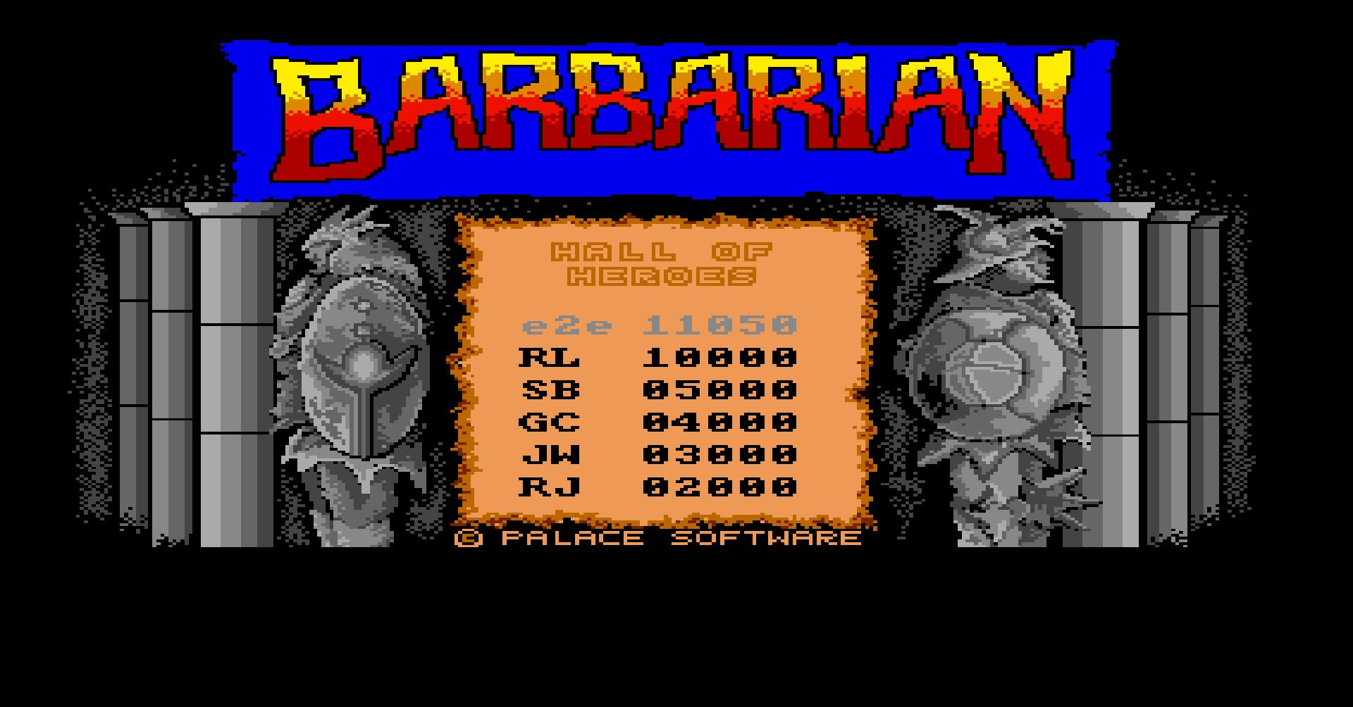 Barbarian: The Ultimate Warrior [1 Player] 11,050 points